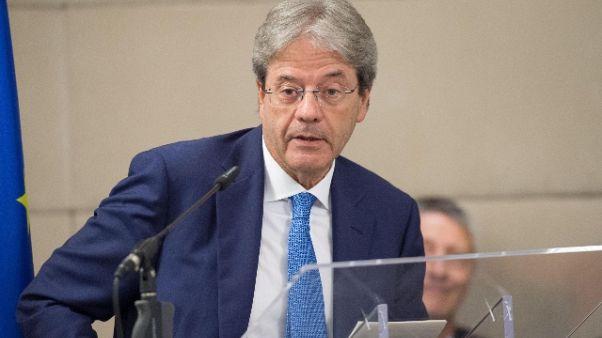 Libia: Gentiloni, auspico ampio consenso