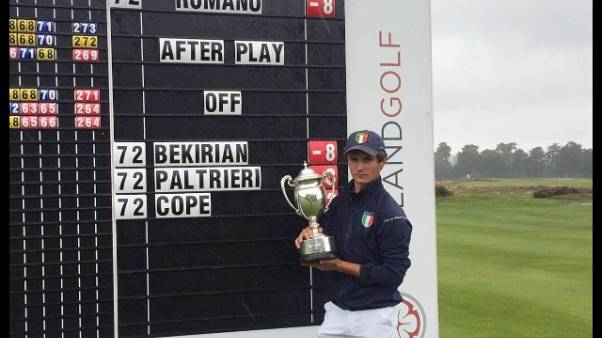 Golf: Romano vince English boys U18 open