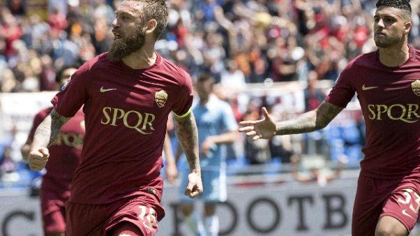 """Roma: De Rossi """"colmare gap con Juve"""""""