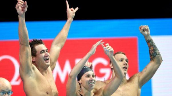 Natation: titre et record du monde pour les Américains dans le relais mixte 4x100 m libre