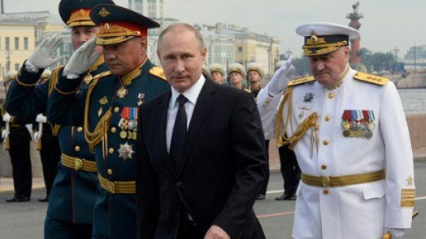 Poutine affiche la puissance navale russe