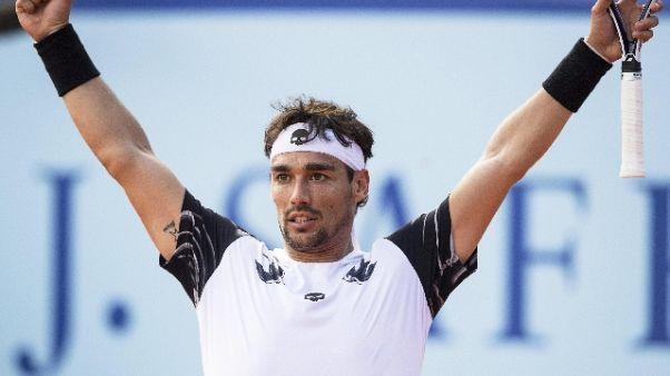 Tennis: Fognini trionfa a Gstaad