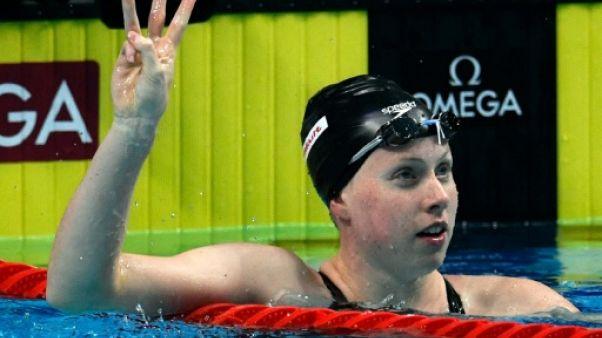 Natation: titre et record du monde pour l'Américaine Lilly King sur 50 m brasse