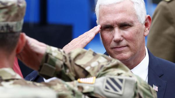 U.S. Vice President Pence, in the Baltics, voices support for mutual defence in NATO