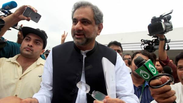 Pakistani lawmakers elect Abbasi as PM to replace ousted Nawaz Sharif