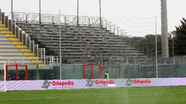 Crotone-Cagliari: chiusa tribuna coperta