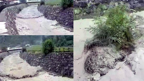 Nubifragio in V.d'Aosta, evacuati in 52