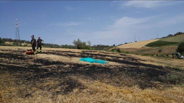 Rogo in un campo,muore avvolta da fiamme