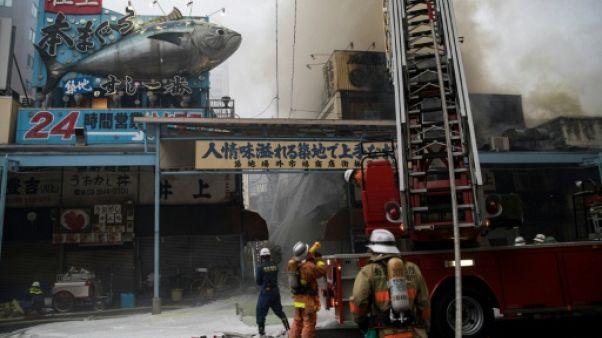 Tokyo: incendie près du célèbre marché au poisson de Tsukiji