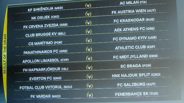 E.League: Milan-Shkendija andata in casa
