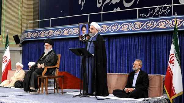 Rouhani, embarking on second term in Iran, asks Europe not to side with Trump