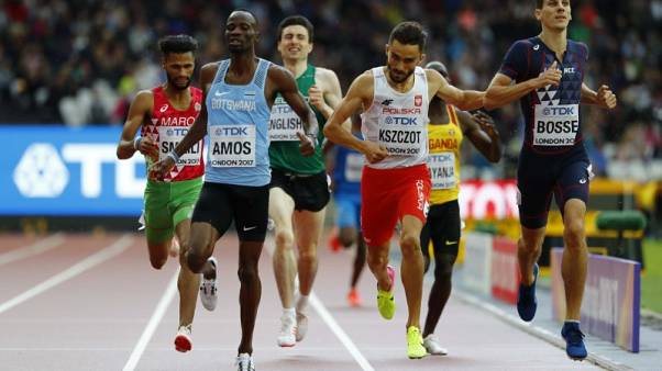 Athletics - Amos safely through in wide-open men's 800 metres