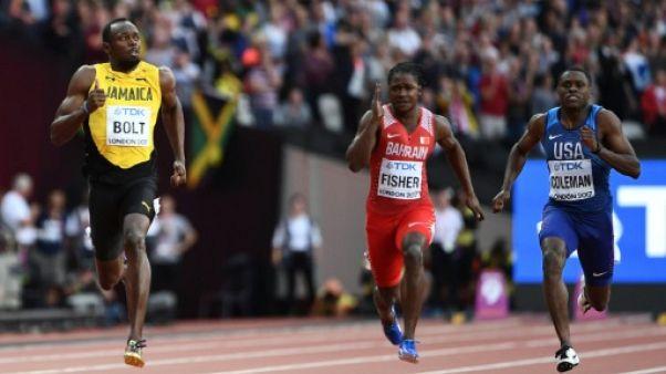 Athlétisme: Bolt en finale du 100 m, malgré sa 2e place en demies