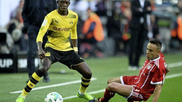 Calcio:Barca e Dortmund trattano Dembelè