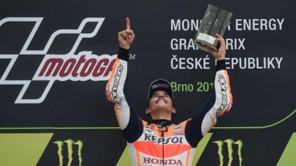 Moto: Marc Marquez enlève sa 3e victoire de la saison au GP de Rép. Tchèque