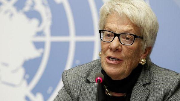 Syria investigator del Ponte quits, blaming U.N. Security Council