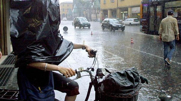 Maltempo: forte temporale su Bologna