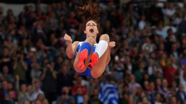 Athlétisme: la Grecque Ekaterini Stefanidi sacrée au saut à la perche