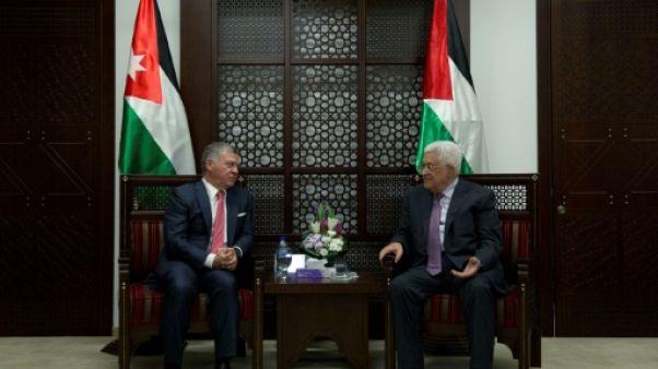 """A Ramallah, le roi de Jordanie délivre un message de """"soutien"""" aux Palestiniens"""