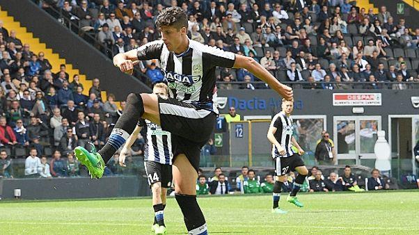 Udinese: Perica, distorsione a caviglia