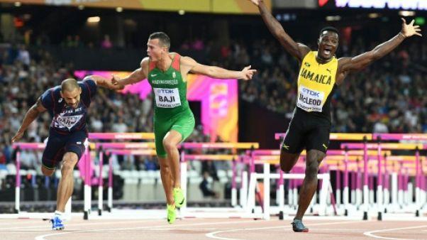 Athlétisme le Jamaïcain Omar McLeod sacré sur 110 m haies aux Mondiaux