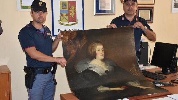 Trovato dipinto rubato, un denunciato