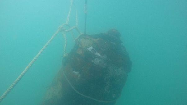 Trovata in mare e fatta brillare bomba