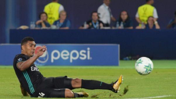 Supercoupe d'Europe: à la pause, Real Madrid mène 1-0 contre Manchester United