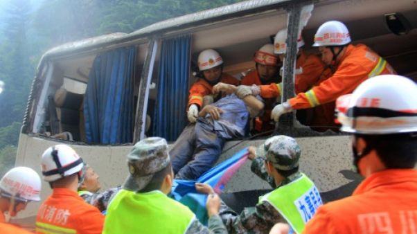 Séisme en Chine: 19 morts, un écrin naturel défiguré