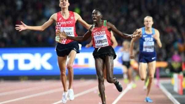 Athlétisme: le Kényan Conseslus Kipruto en or sur 3.000 m steeple