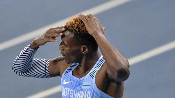 Atletica: Makwala allo stadio, bloccato
