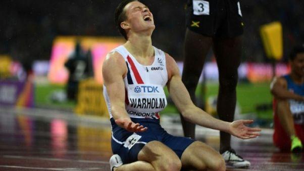 Athlétisme: le Norvégien Warholm en or sur 400 m haies
