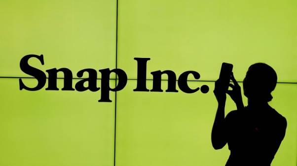 Snap shares up ahead of results; options traders eye steep stock swing
