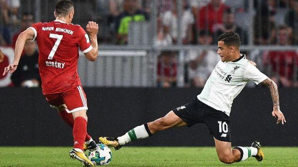 Calcio: Liverpool, Coutinho è incedibile