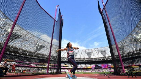 Athlétisme: Robert-Michon qualifiée pour la finale du disque dame