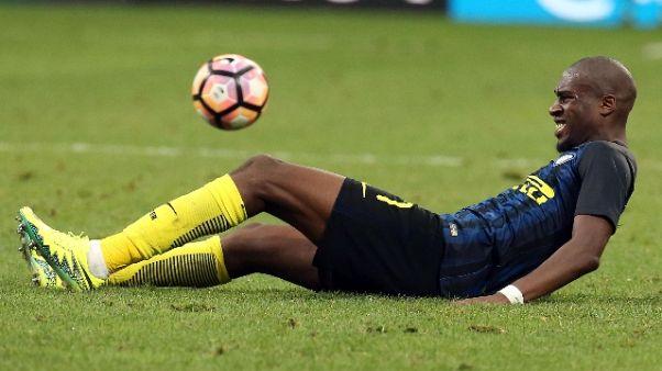 Inter, Kondogbia assente ingiustificato