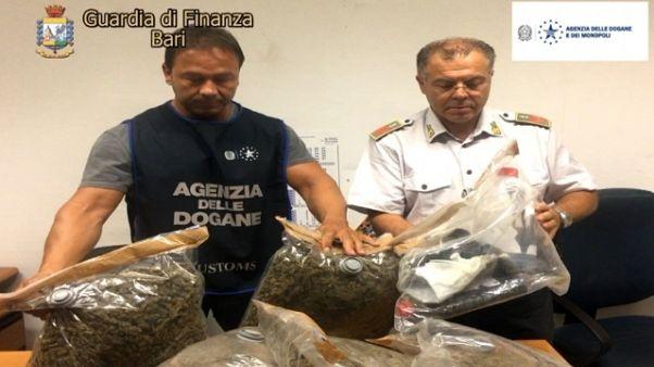 Sequestro 11 kg marijuana e olio hascisc