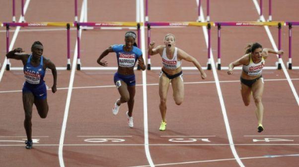 Athlétisme: Harrison passe in extremis en finale du 100 m haies avec le 8e temps