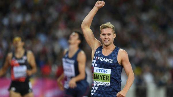 Athlétisme: Kevin Mayer vire en tête à la moitié du décathlon