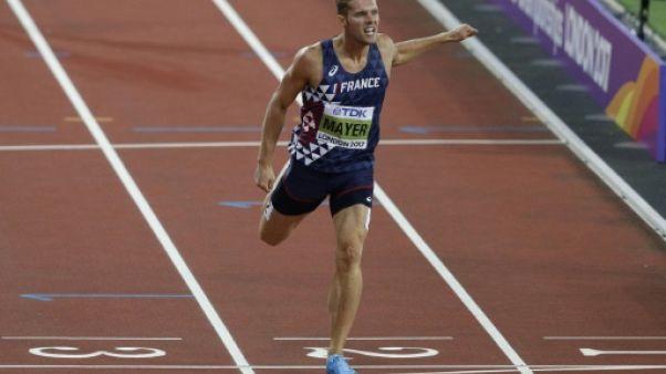 Athlétisme: Mayer sur la voie royale