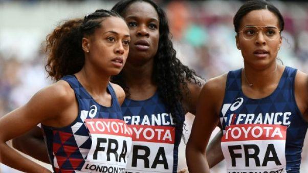 Athlétisme: les Françaises éliminées en demi-finales du 4x100 m