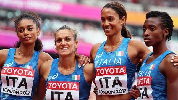 Mondiali atletica, fuori la 4x400 donne