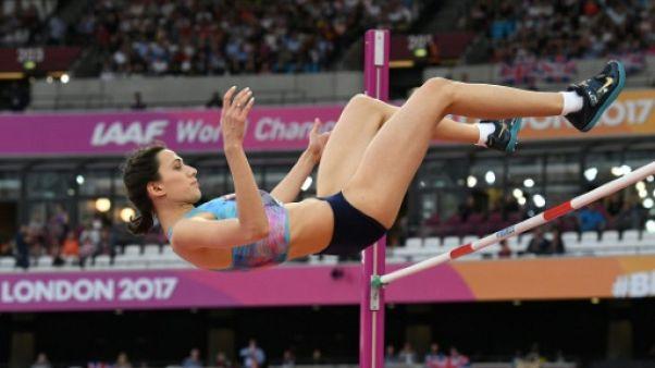 Athlétisme: la Russe sous drapeau neutre Maria Lasitskene sacrée à la hauteur