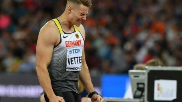 Athlétisme: l'Allemand Johannes Vetter s'empare du titre au javelot