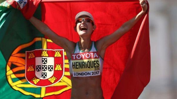 Athlétisme: la Portugaise Ines Henriques première championne du monde du 50 km marche