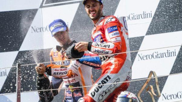 Moto: Dovizioso, après le GP d'Autriche, s'affirme comme un rival sérieux de Marquez pour le titre
