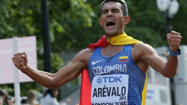 Athlétisme: le Colombien Eider Arevalo sacré sur 20 km marche