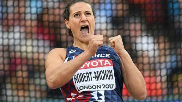 Athlétisme: Mélina Robert-Michon en bronze au disque, 5e médaille française