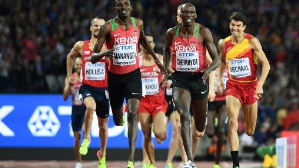 Athlétisme: le Kényan Elijah Manangoi sacré sur 1.500 m en battant Kiprop