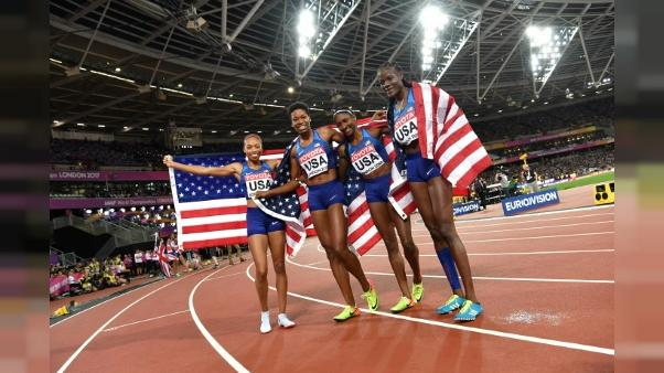 Athlétisme: 16e médaille pour Allyson Felix, sacrée avec les Etats-Unis sur 4x400 m